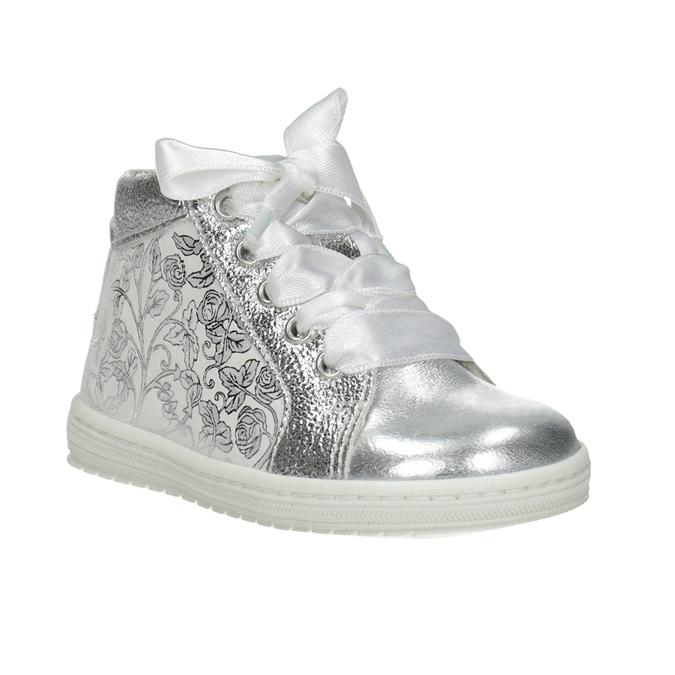 Dětská stříbrná obuv s mašlí bubblegummers, 126-1605 - 13