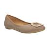 Béžové baleríny se zlatou sponou bata, 529-8638 - 13