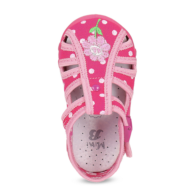 Dívčí růžové pantofle mini-b, 179-5601 - 17