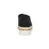 Černé polobotky s výraznou perforací bata, černá, 529-6636 - 15