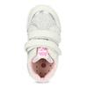 Dívčí kotníčkové tenisky s kytičkami bubblegummers, šedá, 129-2602 - 17