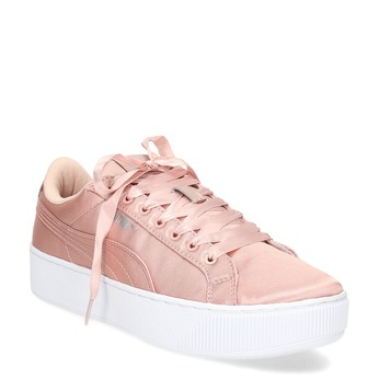Růžové saténové tenisky puma, růžová, 509-5710 - 13