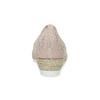Kožené lodičky na klínku šíře G gabor, růžová, 616-5042 - 15