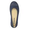 Ležérní kožené baleríny s perforací weinbrenner, modrá, 546-9614 - 17