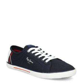Modré pánské tenisky z textilu pepe-jeans, modrá, 849-9015 - 13