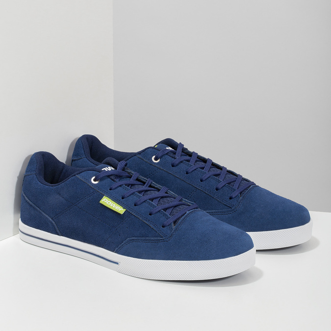 Kožené pánské tenisky modré power, modrá, 803-9860 - 26