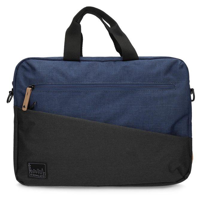 Černo-modrá taška na notebook roncato, modrá, 969-9698 - 26