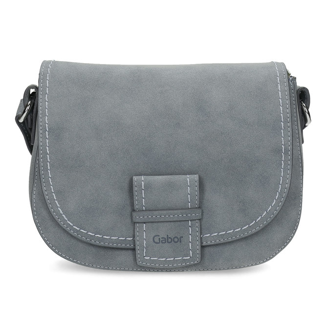 Crossbody kabelka se cvočky na popruhu gabor-bags, modrá, 961-9015 - 26