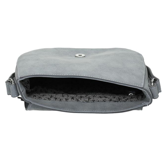 Crossbody kabelka se cvočky na popruhu gabor-bags, modrá, 961-9015 - 15