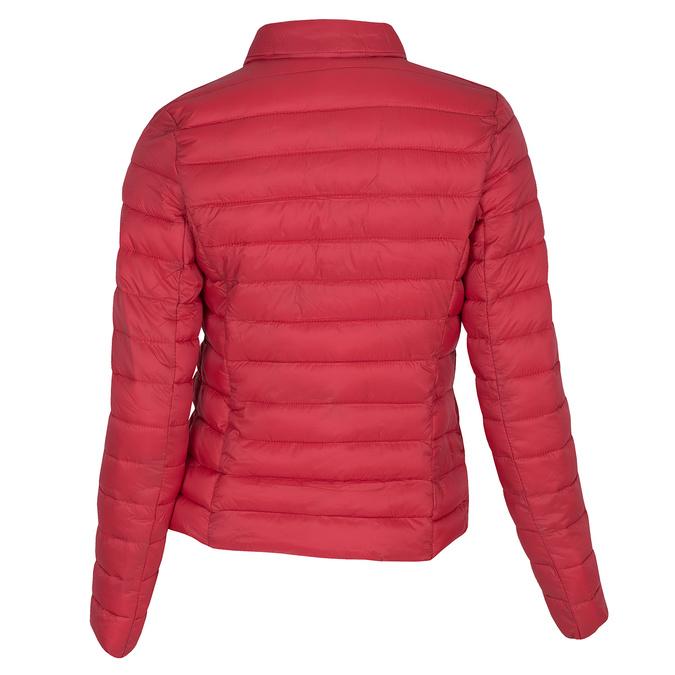 Červená prošívaná bunda s límečkem bata, červená, 979-5182 - 26