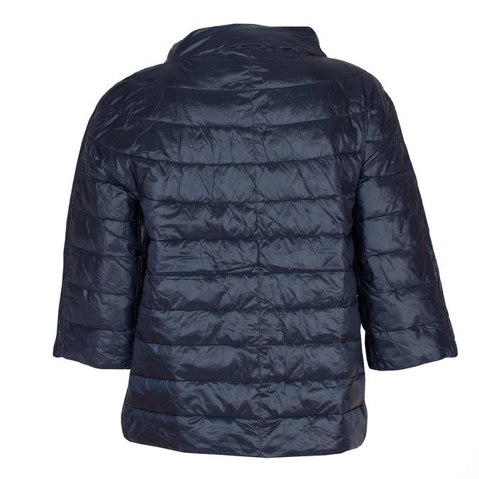 Prošívaný kabátek s tříčtvrtečním rukávem bata, modrá, 979-9147 - 26