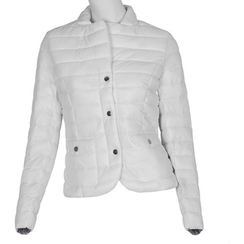 Bílá prošívaná bunda s límečkem bata, bílá, 979-1182 - 13