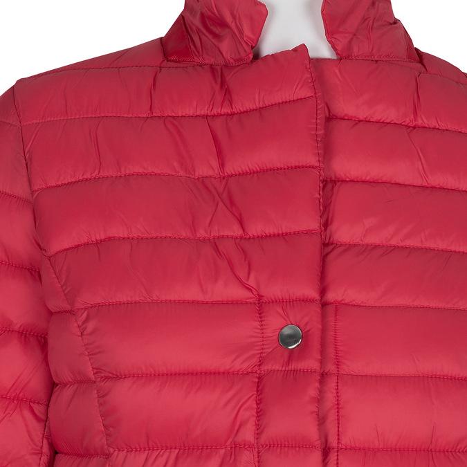 Červená prošívaná bunda s límečkem bata, červená, 979-5182 - 16
