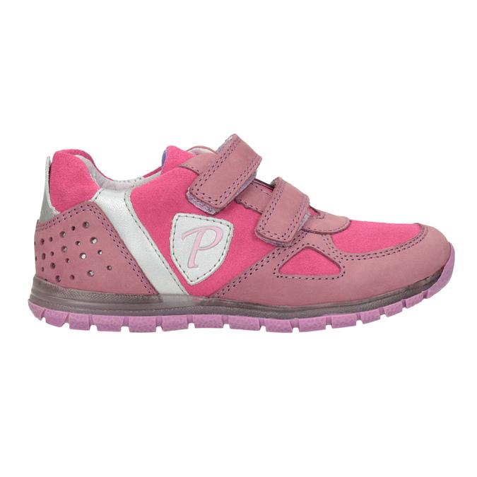 Dívčí růžové tenisky z kůže mini-b, růžová, 223-5605 - 26
