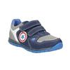 Modré kožené tenisky dětské mini-b, modrá, 213-9604 - 13