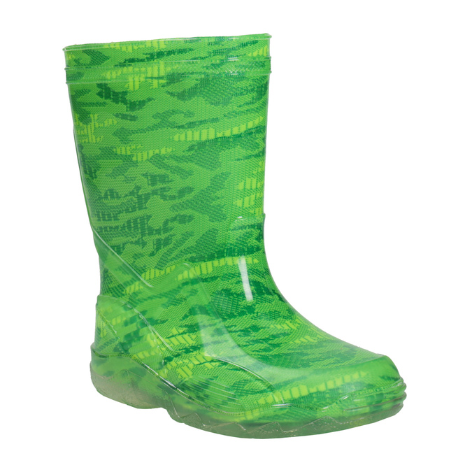 Zelené holínky se vzorem mini-b, zelená, 392-7110 - 13