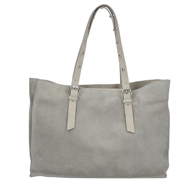 Kožená šedá kabelka se cvočky bata, šedá, 963-2194 - 26