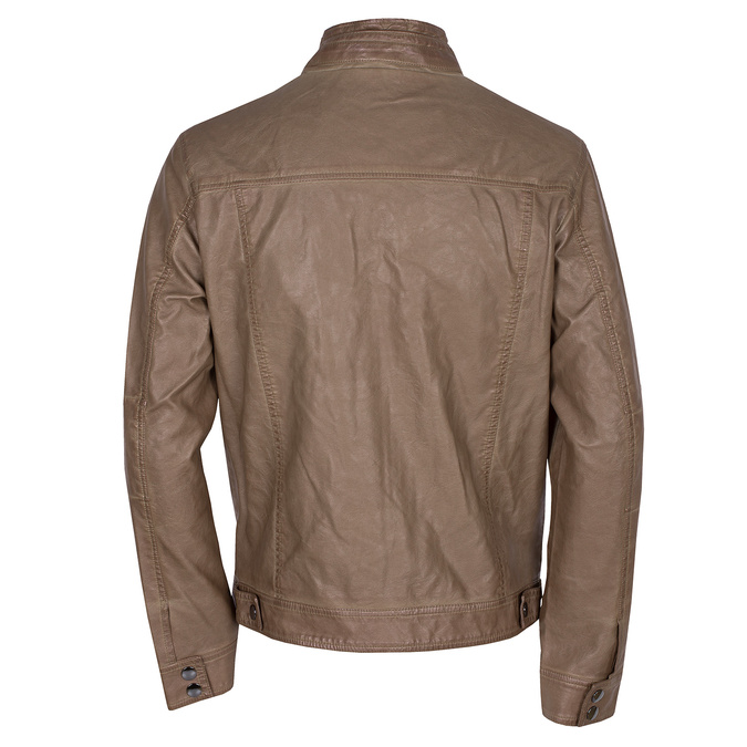Hnědá pánská bunda z koženky bata, hnědá, 971-3194 - 26