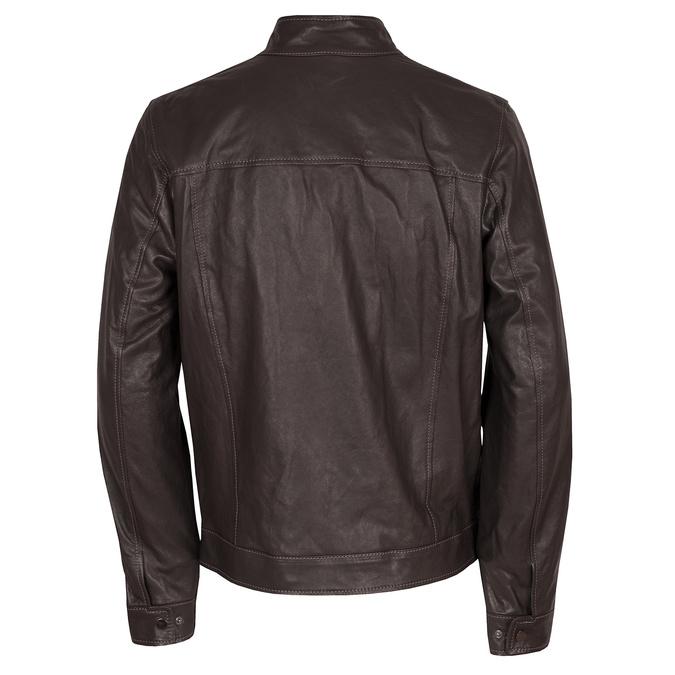 Kožená pánská bunda tmavě hnědá bata, hnědá, 974-4134 - 26
