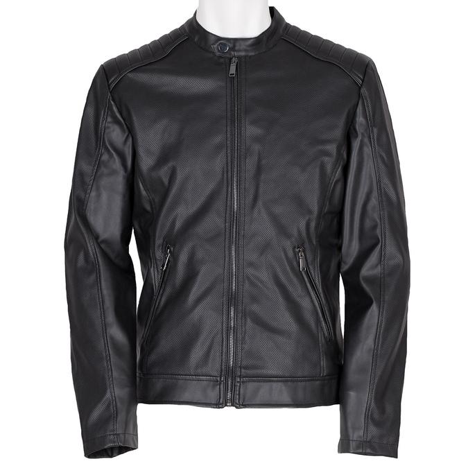 Pánská bunda s prošitím na ramenou bata, černá, 971-6118 - 13