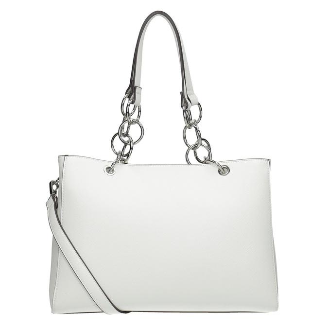 Bílá kabelka s řetízkem bata, bílá, 961-1343 - 16