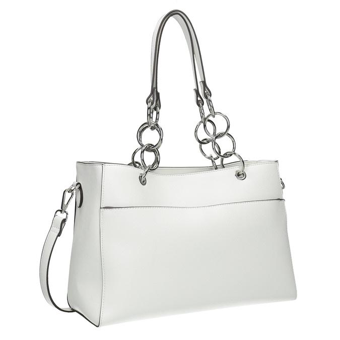 Bílá kabelka s řetízkem bata, bílá, 961-1343 - 13