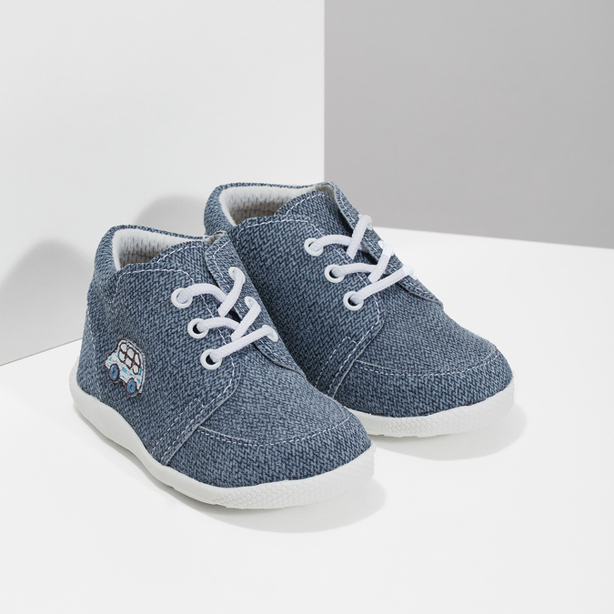 Dětské kotníčkové tenisky bata, modrá, 113-9609 - 26