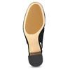 Kožené lodičky s volnou patou clarks, černá, 723-6075 - 18