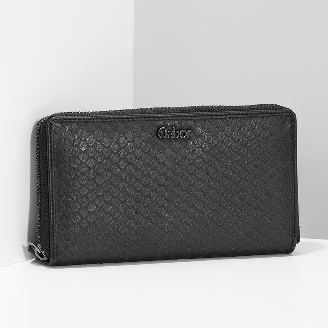 Kožená dámská peněženka se šupinami gabor-bags, černá, 946-6002 - 17