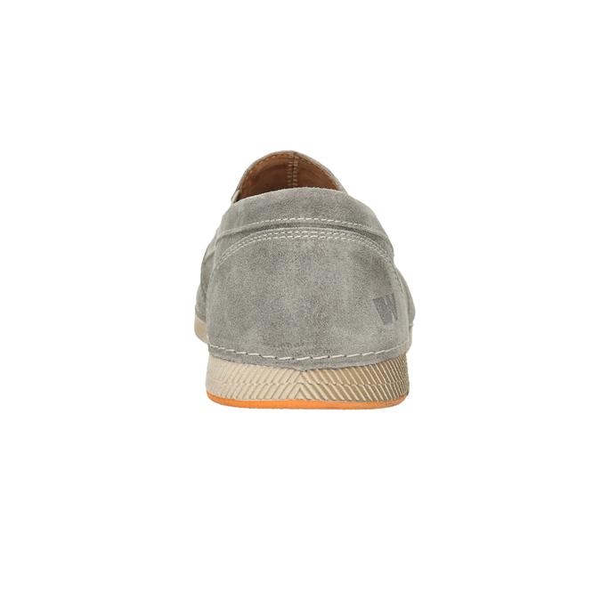 Slip-on z broušené kůže weinbrenner, šedá, 833-8603 - 16