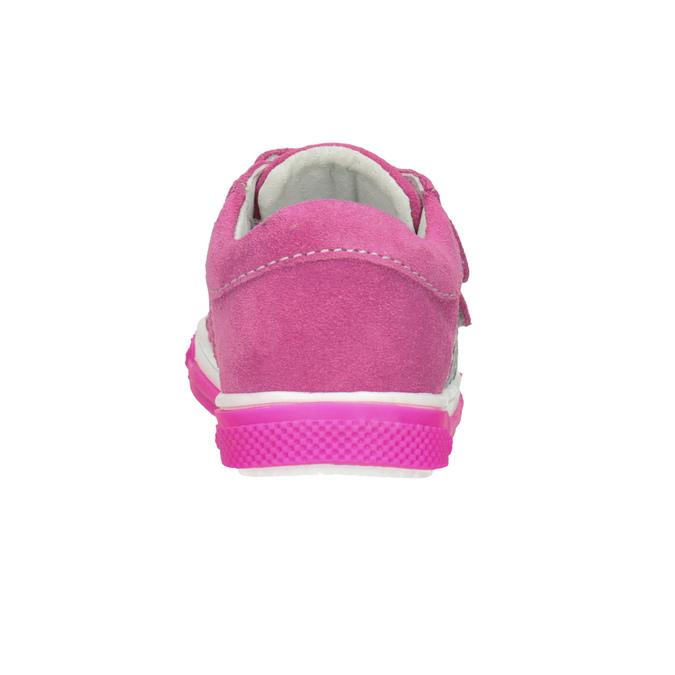 Růžové dívčí tenisky z kůže bubblegummers, 123-5607 - 16