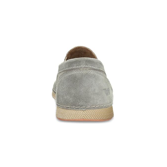 Slip-on z broušené kůže weinbrenner, šedá, 833-8603 - 15