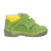 Dětská kotníčková obuv z broušené kůže bubblegummers, zelená, 113-7608 - 26