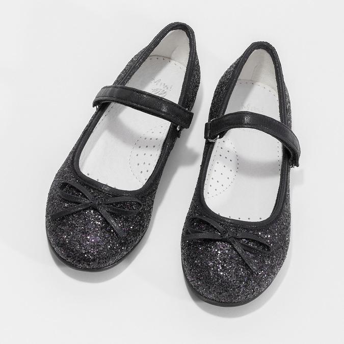 Černé dívčí baleríny se třpytkami mini-b, černá, 229-6103 - 16