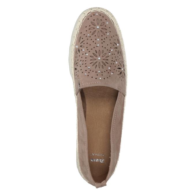Hnědé dámské espadrilky bata, 519-5606 - 15