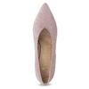 Kožené lodičky na asymetrickém podpatku bata, růžová, 723-5608 - 17