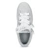 Kožené tenisky s mašlí na flatformě puma, šedá, 503-2737 - 17