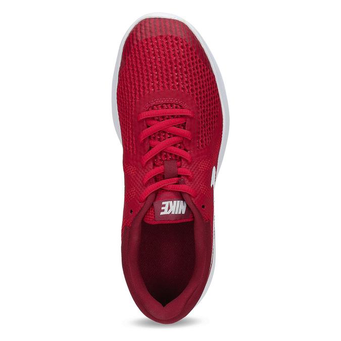 Červené dětské tenisky s bílou podešví nike, červená, 409-5502 - 17