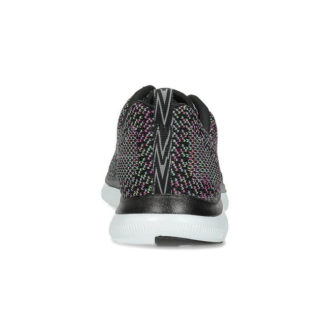 Tenisky s barevným pleteným vzorem skechers, černá, 509-6530 - 15