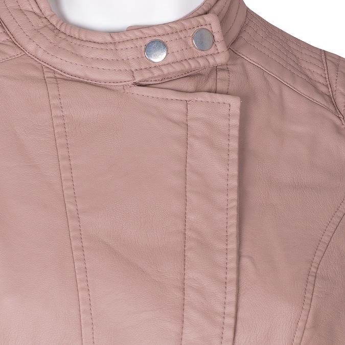Růžová dámská bunda z koženky bata, růžová, 971-8211 - 16