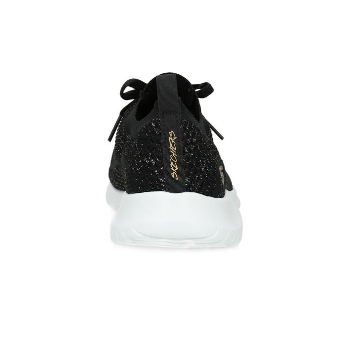 Černé úpletové tenisky se zlatými detaily skechers, černá, 509-6992 - 15