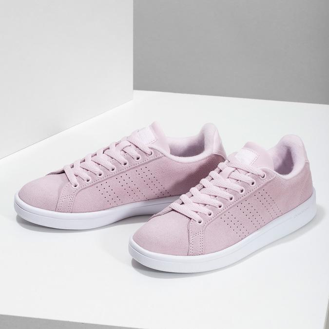 Růžové kožené tenisky dámské adidas, růžová, 503-5478 - 16