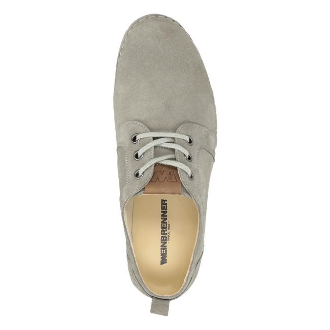 Dámské šedé kožené tenisky weinbrenner, šedá, 546-2617 - 17