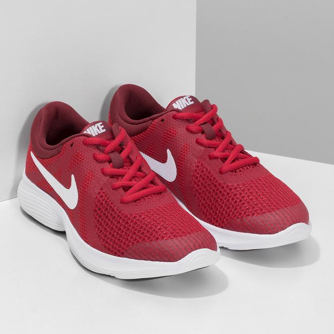 Červené dětské tenisky s bílou podešví nike, červená, 409-5502 - 26