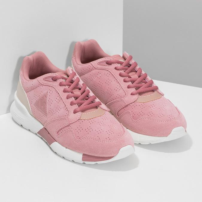 Růžové dámské tenisky z broušené kůže le-coq-sportif, růžová, 503-5309 - 26