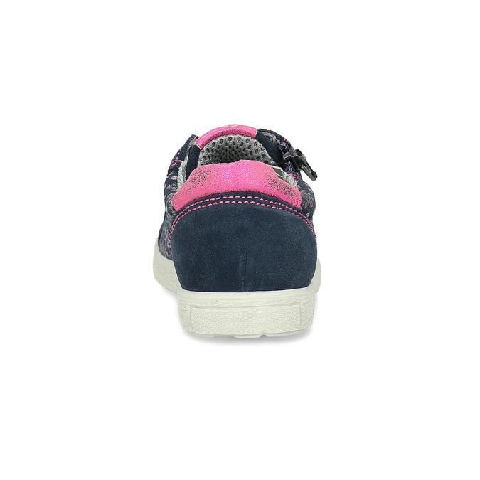 Dívčí tenisky se zipem a srdíčky mini-b, modrá, 223-9602 - 15