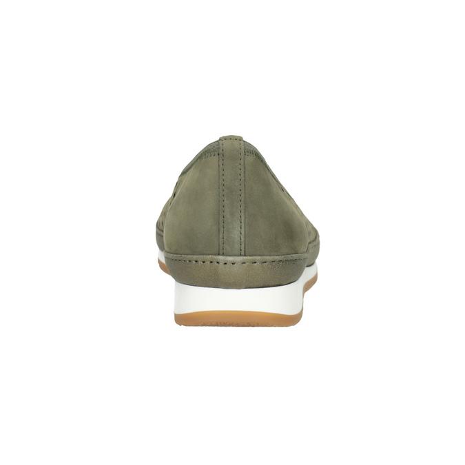 Ležérní kožené baleríny šíře G gabor, khaki, 623-7053 - 16