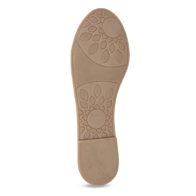 Dívčí kožené balerínky s perforací a květinami mini-b, bílá, 324-1273 - 18
