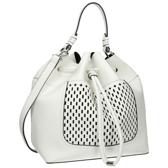 Bílá Bucket Bag kabelka bata, bílá, 961-1298 - 13