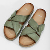 Khaki kožené nazouváky bata, khaki, 866-7647 - 16